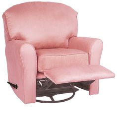 Enchanted - Recliner, Swivel Glider Upholstered MS Pink  *Reviews say back is too short to lay head back :(
