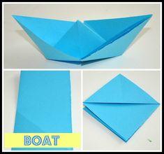 Nice Paper Boat Origami - http://www.ikuzoorigami.com/nice-paper-boat-origami/