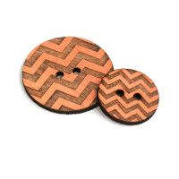Chevron – Coral | Brickbubble: (hand painted) laser engraved and cut wood buttons