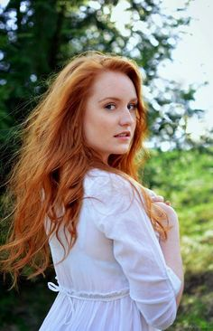 Last summer by Arryja on DeviantArt Natural Redhead, Beautiful Redhead, Red Hair Woman, Pretty Woman, Dyed Hair, Redheads, Ruffle Blouse, Pure Products, Bride