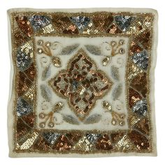 Islamic decor tapestry setZardozi metallic embroidery16-piece setHandcrafted by Benaras artisansMade in IndiaThis item can be shipped Worldwide.