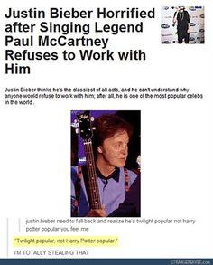 """Twilight popular, not Harry Potter popular"" - Funny tumblr post"
