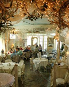 Aiken House & Gardens: Shabby Chic Romantic Tea Room blog. The Garden Gate Tearoom in Dora, Florida