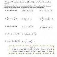 solving and graphing inequalities worksheet free - Solving And Graphing Inequalities Worksheet