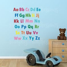 English Alphabets English Country Decor, English Alphabet, Colorful Wall Art, Lower Case Letters, Lowercase A, Wall Art Decor, Decor Styles, Children, Kids