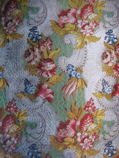 18th century brocaded lampas silk  #fabrics #textiles