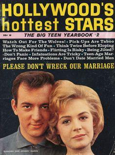 1962. Bobby Darin and Sandra Dee.