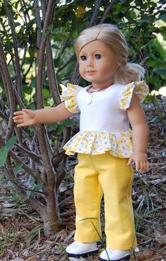 Sewing for American Girl Dolls: Modified pattern.....Dress into a top.