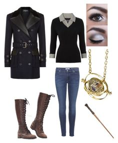 """witch hp"" by melaniec343 on Polyvore featuring Balmain, Maine New England, 7 For All Mankind and Sephora Collection"