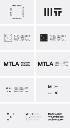 Corporate Design für den Landschaftsarchitekten Mark Tessier Landscape Artchitecture von Mash Creative und Type Hype.
