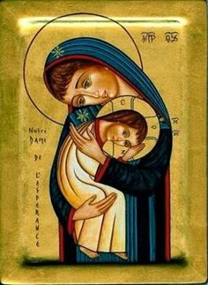 Blessed Mother Mary, Blessed Virgin Mary, Religious Icons, Religious Art, Mother And Child Painting, Paint Icon, Medieval Paintings, Mama Mary, Mary And Jesus