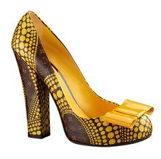 Zapatos salón Louis Vuitton colección Yayoi Kusama