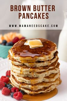 Easy Brown Butter Pancakes - Mama Needs Cake - Breakfast Recipes Waffle Recipes, Brunch Recipes, Breakfast Recipes, Pancake Recipes, Breakfast Ideas, Brunch Ideas, Recipes Dinner, Potato Recipes, Casserole Recipes