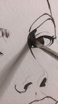 Pretty Art, Cute Art, Art Drawings Sketches Simple, Diy Canvas Art, Painting Techniques, Art Tutorials, Amazing Art, Awesome, Watercolor Art