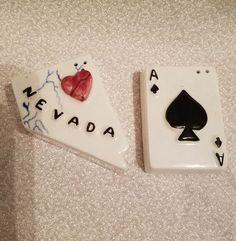 Vintage Nevada Ace of Spades Shape Salt Pepper Shakers Parkcraft Salt N Pepper, Salt Pepper Shakers, Ace Of Spades, Nevada, Addiction, Collections, Ink, Shapes, Ebay
