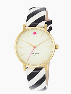 Kate Spade - Metro Watch (with a black and white striped band) $195