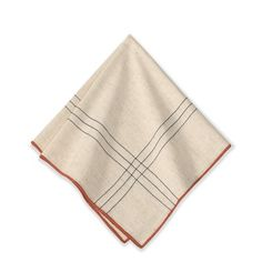 Criss Cross Napkins, Set of 4 #williamssonoma This comes with a navy trim