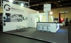 custom booth for Robert's Graphic's at Ipex.