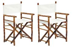 Tortoise Farr Director's Chairs, Pair Now: $220.00 Was: $275.00
