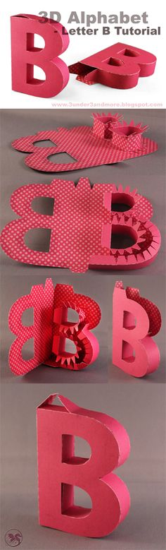 3 under 3 and more: 3D Alphabet tutorial: Letter B
