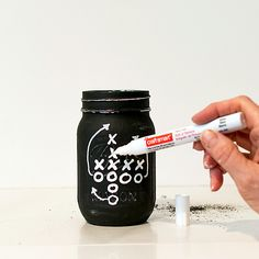 Superbowl-Football-Party-Decorating-Ideas-Mason-Jar-Football-Referee-Football-Field-Chalkboard-Game-Plan (10 of 26)