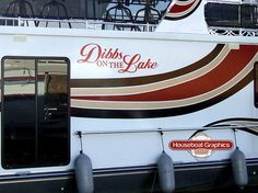 Spiceup Your Boatname Check Out These Custom Houseboat And - Houseboats vinyl decals