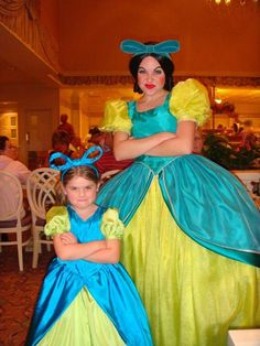 Evil stepsister Drizella and a fan (we see little girls dressing up as Cinderella every day but this, is different)