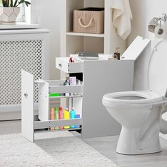 Shop for Bathroom Organizer Free Standing Cabinet - x x Get free delivery On EVERYTHING* Overstock - Your Online Furniture Outlet Store! Bathroom Standing Cabinet, Bathroom Floor Cabinets, Free Standing Cabinets, Bathroom Flooring, Bathroom Furniture, Small Bathroom Storage Cabinets, Bathroom Tower, Bathroom Ideas, Storage Cabinet With Drawers