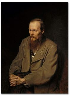 Trademark Global Vasily Perov 'Portrait Of Fedor Dostoyevsky' Canvas Art - 47 x 35 x 2 Wassily Kandinsky, Artist Canvas, Canvas Art, Dostoevsky Quotes, The Brothers Karamazov, Russian Literature, Classic Literature, Meaning Of Life, Short Stories