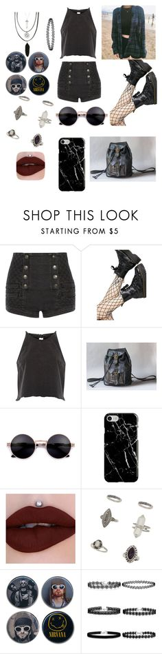 """Grunge"" by rubylyn2003 ❤ liked on Polyvore featuring Pierre Balmain, Leg Avenue, River Island, Recover, Miss Selfridge and Hot Topic"