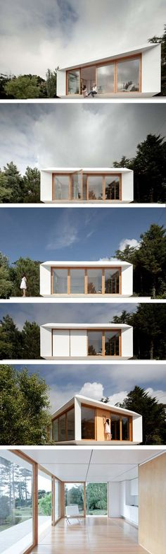 Mima prefab house by Mima architects (Portugal). 35m2 which allows maximum use of it's space with the posibility of modifing its interior by a panel system.
