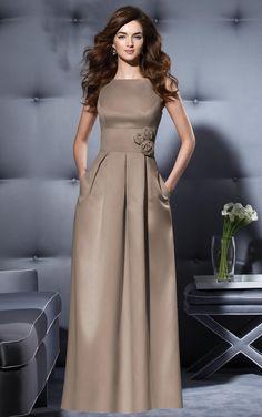 A-line Floor-length Zipper Satin Sleeveless Bridesmaid Dresses/ Cocktail dresses/ Special occasion dresses