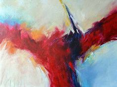 Artists Of Texas Contemporary Paintings and Art - Fire and Ice - Original Abstract Painting by Texas Contemporary Artist Filomena de Andrade Booth