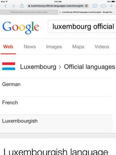 Languages they speak in Luxembourg