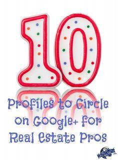 10 Profiles to Circle on Google for #RealEstate Pros - http://www.blog.househuntnetwork.com/10-profiles-circle-google-real-estate-pros/#.U8lUVPldUqh - h/t @massrealty @lynnpineda @coloradopics @barbbottitta @dlamb1047 @househunt @lender411