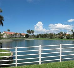 One of many island ponds overlooking Vista Verde West. Holiday Apartments, Rental Apartments, St Petersburg Fl, Holiday Lettings, Vacation Home Rentals, Rental Property, Golf Courses, Florida, Barefoot