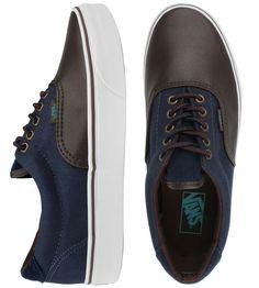 Vans Era 59 Shoes - (Leather/Cord) Brown/Dress Blues $60.00 #vans #era59