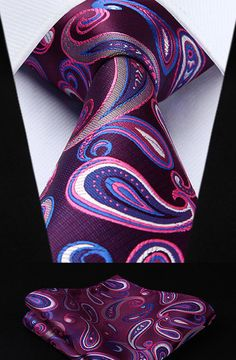 Finishing Touch Paisley Tie & Pocket Square