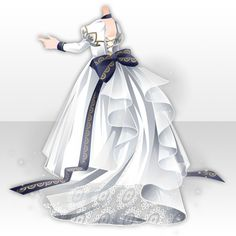 @trade | 燦然たる栄光の玉座のアイテム一覧 Anime Outfits, Dress Outfits, Cool Outfits, Royal Dresses, Nice Dresses, Girl Fashion, Fashion Outfits, Star Girl, Fashion Design Sketches