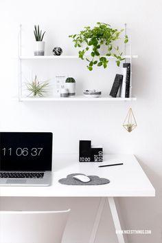 Urban Jungle im Home Office: Pflanzen Deko am Schreibtisch