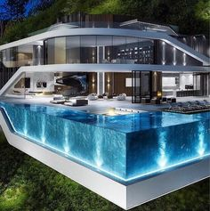 """Luxury Homes Interior Dream Houses Exterior Most Expensive Mansions Plans Modern 👉 Get Your FREE Guide """"The Best Ways To Make Money Online"""" Dream Home Design, Modern House Design, Dream Mansion, Luxury Pools, Luxury Homes Dream Houses, Modern Mansion, Dream Pools, Dream House Exterior, Swimming Pool Designs"""