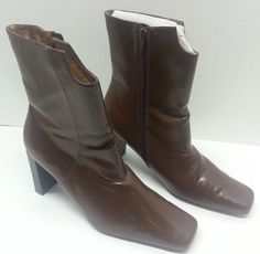 Womens British Tan Brown Man-Made Faux Leather Fashion Ankle Boots Size 8.5  #SuzanneSomers #FashionAnkle #Casual
