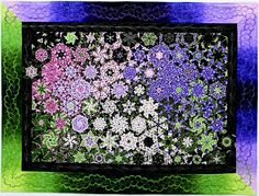 """Wisterious by Elizabeth Vikla by C Publishing, via Flickr    Another one block wonder. Heading to buy the fabric today. It is a """"simple"""" one block and one fabric quilt."""