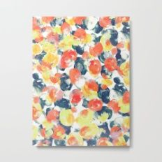 Red Yellow And Blue Metal Print