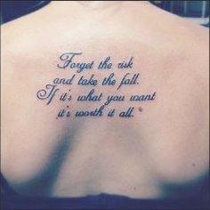 50 Inspirational Tattoo Quotes For Women #inspirational #tattoo #tattooideas