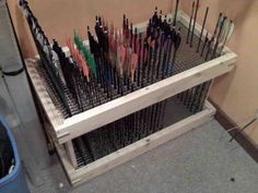 Archery Arrow Storage Best Picture For small Hunting Room For Your Taste You are looking for somethi Archery Shop, Archery Gear, Archery Range, Archery Arrows, Archery Hunting, Hunting Gear, Archery Targets, Hunting Rooms, Archery Training