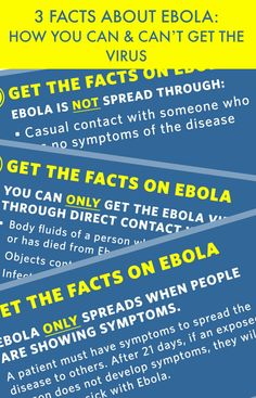 3 FACTS ABOUT EBOLA: HOW YOU CAN & CAN'T GET THE VIRUS