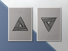 Modern Art Print. Geometric Wall Art. Grey and White Triangle. Minimalist Print. Contemporary Wall Art. Geometric Print. Coffee Bar Decor by StinkyDoodles on Etsy