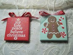 Hand Painted mini Canvas Christmas Holiday by WallsThatTalk, $7.50