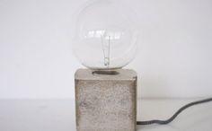 Concrete Base Desk Lamp via Brit + Co.